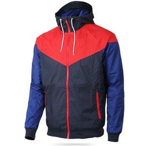 Hommes à capuche à capuche printemps automne windrunner mince veste à capuche à capuchon manteau Sports mur-vent Black Modèles Couple Couple Clothin Vêtements M-3XL
