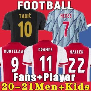 20 21 maillot de football AJAX amsterdam FC 2020 2021 KUDUS ANTONY BLIND PROMES TADIC NERES CRUYFF hommes enfants kit maillot de football uniformes troisième 50e