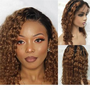 Ombre Human Hair Wigs #1B 30 color Virgin Brazilian 13x6 Lace Front Wigs Water Wave 150% Density Lace Frontal Wigs with Baby hair