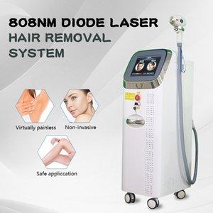 Professionnel 808 Diode Diode Laser Machine à laser 808nm Système de refroidissement de la peau sans douleur Allove pour les lèvres de bikini
