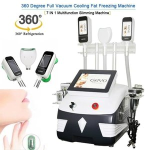 Hot 5 In 1 Cryolipolysis with 3 Cryo Handles+40K+Rf+Rf+ 6 Pads Lase Cavitation 360° Double Chin Fat Freeze Slimming Machine#001