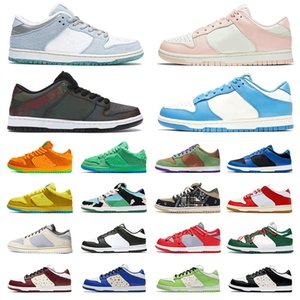 2021 Nike SB Dunk Low OFF White Original Running Shoes Mens Dunks 1 Sneakers Sean Cliver Chunky Dunky Costa Namorados Dia Off Homens Mulheres Trainers Outdoor