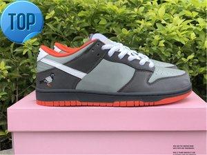 새로운 정통 덩크 S B Staple NYC 비둘기 낮은 스케이트 보드 신발 남성 여성 중간 흰색 어두운 회색 비둘기 야외 운동화 원래 상자
