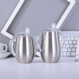 Baby Sippy Cup can sublimation with Handle Stainless Steel Heat Transfer Printing Bottle Tumbler Water Mug gift sea shipping AHB6151