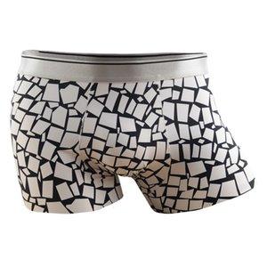 Summer Man Ice Underpants Silk Silky Male Underwear Prints Men Boxer Shorts Seamless Intimate Mens Thin Nylon Underwears Boxers