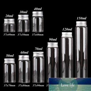 Großhandel 15 stücke Glasflaschen mit Aluminiumdeckeln Durchmesser 37mm Süßigkeitsgläser Pill Container