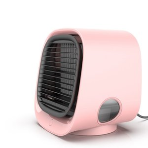 Portable Mini Desktop Air Conditioner vacuum With Night Light USB Water Cooling Humidifier Purifier Multifunction Summer