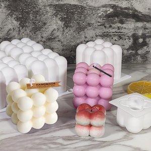 Zanaat Araçları Tek Sihirli Ball Mousse Kek Moule Silikon Kalıp DIY Küp Mum Kalıpları Ile Gıda Sınıfı El Yapımı