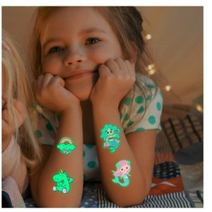 Luminous Sticker Temporary Tattoo Face Color Unicorn Mermaid Dinosaur Tattoos Child Cute Stickers Body Tattoo For Boys And Girl