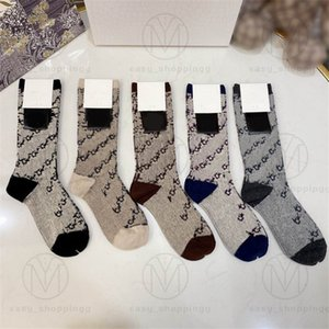 2021 Designers Mens Womens Socks Five Luxurys D Sports Winter Mesh Letter Printed Brands Cotton Man Femal Sock With Box Set For Gift