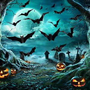 Window Stickers 3d Halloween Crease Bats Decoration Wall Sticker Thriller Party Pvc For Home Supplies