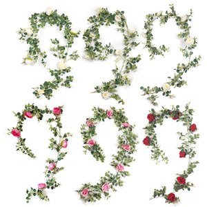New Year Wedding Decoration Artificial Flowers for Decor High Quality Royal Rose Fake Flower Vine Xmas Party Hotel Home Decor ZHL1575