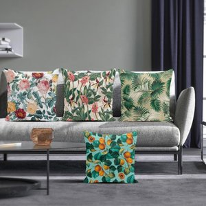 Tropical Style Decortive Pillows Plant Pattern Cushion Cover For Living Room Sofa Housse De Coussin Nordic Home Decor Cushion Decorative Pil