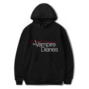 Hoodies the Vampire Diaries Women mens Long Sleeve Hodies Pullovers Women Men Casual Clothes Unisex