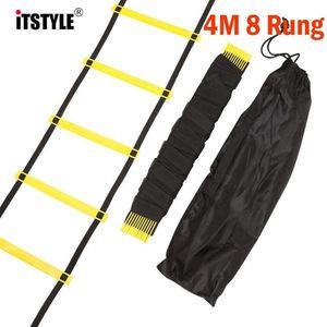 ItStyle 8 Rundg 12 pés 4m Futebol Treinamento Escada 2mm M 4mm Staircase Agile Fitness Fitness Speed Energy Rope Ladder WMTBPF XHLOVE