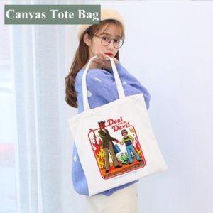Blank Sublimation Handbag 35*40cm White DIY Canvas Tote Bag Classic Storage Bags Outdoor Portable Backpack 4966