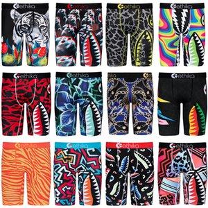Mens Boy Shorts Designer Boxers Quick Dry Breathable Briefs Men Underwear Trendy Shark Print Short Pants Sport Underpants Summer Shorts S-2X