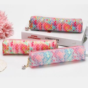Pencil Bags 2021 Laser Sequin Degree Diamond Pendant Case School Supplies Colorful Stationery Korea