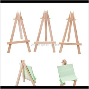 Event Festive Party Supplies Home Garden Drop Delivery 2021 8X15Cm Natural Wooden Tripod Easel Mini Wedding Decoration Painting Small Holder