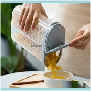 Storage Housekeeping Organization Home Gardenstorage Bottles & Jars Plastic Cereal Dispenser Box Kitchen Grain Rice Container Nice Flour Dro