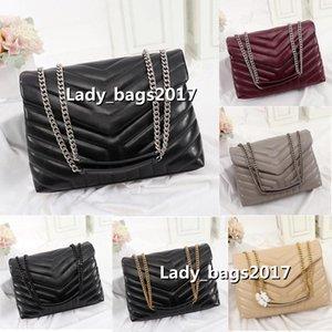 Классические сумки формированные клапаны цепные сумки роскошные дизайнеры леди лулуй сумочки женские плеча сумочка сцепления Tote Messenger вечернее покупки
