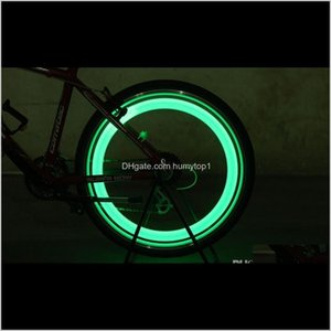 Bike Bicycle Led Wheels Spokes Lamp Wheel Lights Motorcycle Electric Car Sile Flash Alarm Light Cycle Accessories Sc040 0Tfsp Reurt