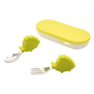 Cups, Dishes & Utensils A5KF Baby Tableware Spoon Fork Stainless Steel Utensil Toddler Dinnerware Cutlery Set
