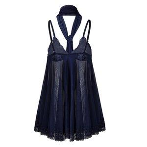 FactoryKG6ETransparent Lingerie Babydoll Sexy Plus Dress Size S-6XL Sexi Nightwear Women Underwear Lace Pajamas Shawl Nig