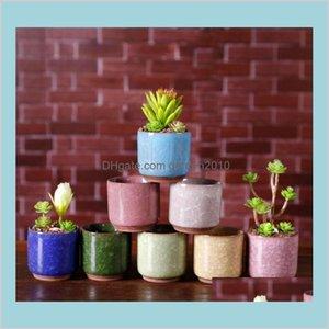 Planters & Pots Garden Supplies Patio, Lawn Home Ice Crack Flower Succulent Plants Pot Mini Thumb Desk Office Flowerpots Ceramic High