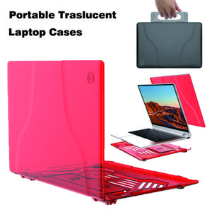 Portable Translucent Ultra thin Laptop Cases For Apple MacBook Air 13 A9132 A1706 MB504 Huawei Matebook X Pro Kickstand Backpack