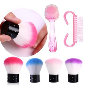 Nail Cleaning Brushes Remove Dust Acrylic Drawing Painting Brush Manicure Nails Art Accessories UV Gel Polishing