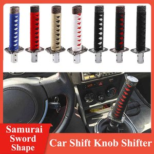 Universal Long Samurai Sword Shape Automatic er w 4 Adapters Gearbox Handles Gear Shift Knob Car Styling