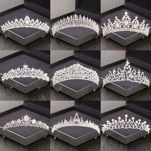 Silver Color Rhinestone Crown and Tiara Wedding Hair Accessories For Women Bridal Tiara Hair Crown Wedding Crown Headpiece