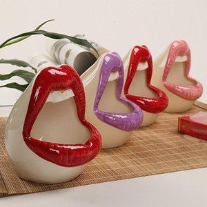 Cute Cartoon Ashtray Lips Ceramic Ashtray Creative Flower Pot Trendy Mouth Fashion Home Mini Send Boyfriend Gift