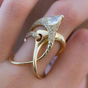 Luxury Irregular Magical Witch Ring Super Cool Accessories Gadget Golden Twist Winding Women Jewelry Personality Rings