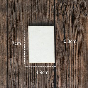 Square Rectangle Unfinished Wood Cutout Circles Blank Wooden Slices Pieces For Diy Painting Art Craft Project warmslove 1281 V2