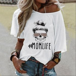 Female Womens Tops Sexy Loose MOMLIFE Print Cotton T shirt Women Casual Harajuku Leopard Glasses Ladies Mothers Day Top