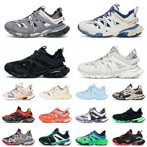 Высокое качество 2021 Мода Triple S Track Track 3.0 Повседневная Обувь Плоская платформа Кроссовки Мужская Женская Комбинация Спортивная Тесса. ГОММА Кожаные тренажеры 36-45