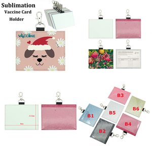 Party Sublimation Card Protector 4*3 inches PU Leather Waterproof Health Record Cards Cover
