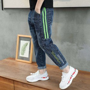 IENENS Boys Jeans Denim Kids Children Clothes Spring Young Boy Straight Cowboy Trousers Casual Pants 5-13Years