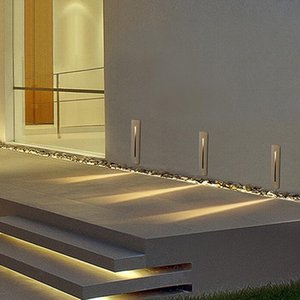 3W Recessed Led Stair Light AC85-265V Indoor Outdoor Corner Wall lights Stairs Step Decor Light staircase lamp
