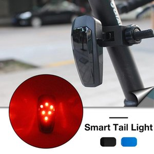 Upgraded MTB Smart Bicycle Tail Lights Road Mountain Bike Brake Warning Taillights USB Charging Fully Automatic Blinking Mode
