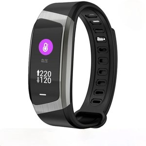 E18 Smart Band Color Touch Screen Pressure Heart Rate Monitor Sport Bracelet IP67 Waterproof Fitness Tracker smart Wristband