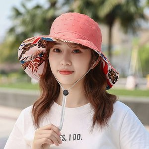 hats Big eaves fisherman's double sided sunshade women's simple sunscreen calico outdoor mountaineering sun