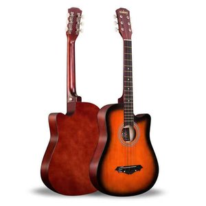 Guitar 38 inch folk music popularizes beginners beginner level songs boys and girls practice semi-closed knob Basswood