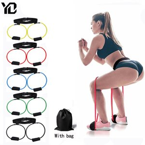 Yoga Fitness Equipment For Home Gym Elastic Resistance Bands Booty Butt Training Bands Waist Belt Pedal Exerciser Workout