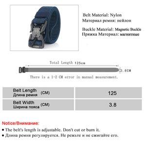 Nylon Belts For Men Light Magnetic Buckle Thick Canvas Outdoor Tactical Designer Belt Wear-resistant Military Training