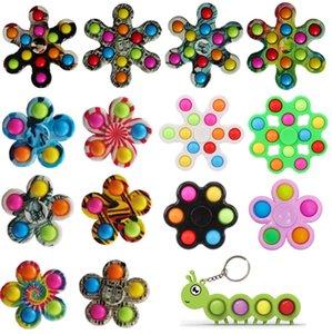 Fidget Toy Toy 5/6/7 se refiere al color puro de los juguetes de los juguetes de escritorio de gyro de color puro de los dedos de los dedos de los dedos de los dedos de la tapa de los delicadores