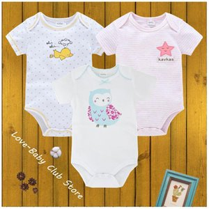 3pcs pack Born Baby Body Bodysuit Jumper Infant Sweatshirt Girls Boys Onesie 100% Cotton Print Cute Cartoons Summer Rompers