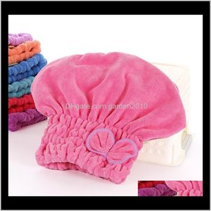 Microfiber Solid Quickly Dry Hair Turban Women Girls Ladies Cap Bathing Drying Towel Head Wrap Hat E5Zk3 Tqrzu